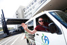 Jim Bratty, a volunteer driver of the new electric shuttle bus. Photo / Michael Cunningham