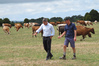 "Okaihau dairy farmer Roger Hutchings (right) explains the ""green drought"" afflicting his farm to Primary Industries Minister Nathan Guy. Roger and Jane Hutchings' farm, Lodore Rd, Okaih"