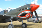 A P40 Kittyhawk from Wings Over Wairarapa 2015.