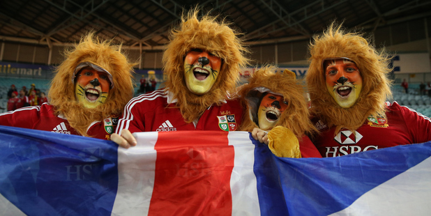 British and Irish Lions fans are a force to be reckoned with. Photo / Getty Images