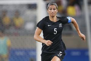 Football Ferns skipper Abby Erceg has quit. Photo / Getty Images