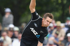 Tim Southee took two wickets in two balls to bring the Black Caps back into the first ODI. Photo / Getty Images