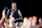 Bruce Springteen performing at Christchurch's AMI Stadium on Tuesday night. Photo/Getty