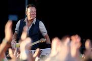 Bruce Springteen performing at Christchurch's AMI Stadium on Tuesday night. Photo/Getty