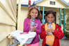 Waimarama School students MJ (left) and Shiloh with bottles of water that have been supplied following a boil water notice being issued for the seaside community. Photo/Duncan Brown