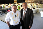 DEALMAKERS: Ngati Kahungunu Iwi Inc chairman Ngahiwi Tomoana (left) and Tainui Holdings director Tuku Morgan are business partners in a joint fishing venture. PHOTO/DUNCAN BROWN
