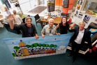 Hundertwasser supporters (from left) Andrew Garrett, Ben Pittman, Helen Whittaker and Barry Trass, are nearing the end of their fundraising journey. PHOTO/JOHN STONE