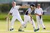 Whangarei Boys' High School bowler Joe Trigg helped his side win the Bruce Scott Trophy. Huanui batsman Will Potter prepares to take a single. Photo/Michael Cunningham
