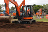 Bryce Coughlan shows the skills that earned him the title of Northland's best excavator operator at the Whangarei A&P Show.