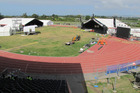 GRAND ARENA: The Hawke's Bay Regional Sports Park in Hastings during its transformation as Kahungunu Park, venue for Te Matatini 2017. PHOTO/DOUG LAING