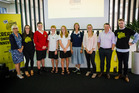 Awards: Lyn Parlane (left), Stacey Jones (YIA), YIA internship winners Louis Donovan, Sam Sheaff, Holly Sheaff, Sasha Van-Beek, and Lydia Gilmour, Nigel Tutt and Josh Saunders (YIA). Photo/Supplied