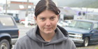 Sarah Bellis took on the big boys at the  Greenstone Park Speedway demolition derby on Saturday - and ended the last car standing. Photo / Greymouth Star