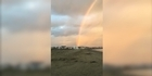 Watch: Watch: Rare double rainbow as summer sets in
