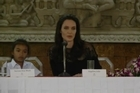"Angelina Jolie says ""I have raised my son to be very. very proud to be Cambodian"" as she promoted her film, ""First They Killed My Father,"" in the country."