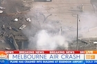 A plane has crashed near direct factory outlet stores in Melbourne, with passersby reporting explosions and billowing black smoke. Twitter / @9NewsMelb