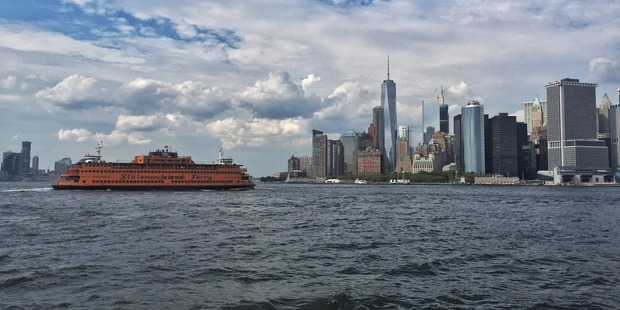The Staten  Island ferry offers spectacular views of lower Manhattan, Brooklyn, New Jersey and the Statue of Liberty and doesn't cost a dime. Pic Andrew B. White
