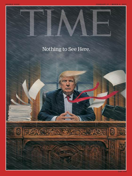 Time magazine's latest cover, by artist Tim O'Brien. Photo/Time