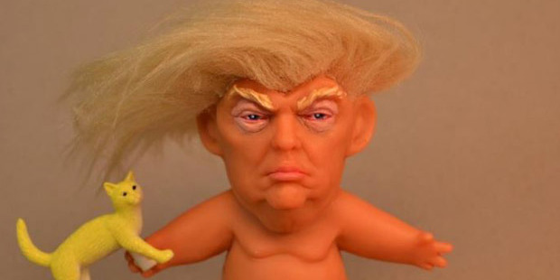 Donald Trump has been immortalised as a naked Troll doll. Photo / Facebook