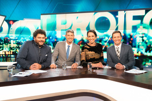 Rove McManus joined the hosts of The Project NZ for their inaugural episode.