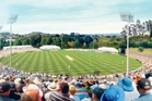 An artists's impression of the proposed  stadium at Western Springs, likely to be the new home for test cricket.