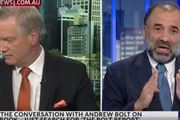 Andrew Bolt and Keyser Trad on Bolt Report. Photo / Sky News