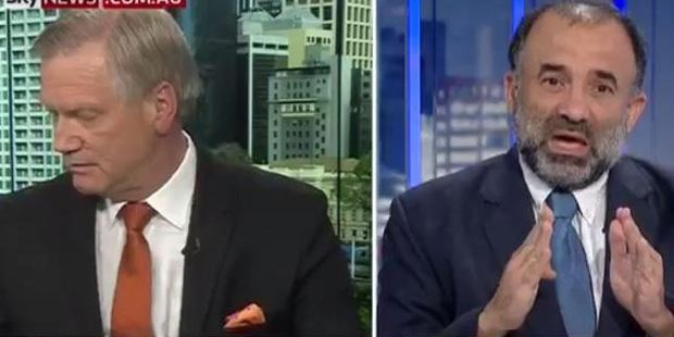 Andrew Bolt and Keyser Trad on Bolt Report. Photo / Sky News