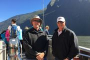 Glenn Garland and Russell Munsch took a trip to Milford Sound while in the South Island.
