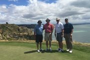 The four men killed in a Melbourne plane crash were on a golfing ''trip of a lifetime'' playing top courses in New Zealand before moving onto Australia. Here they are at Cape Kidnappers.