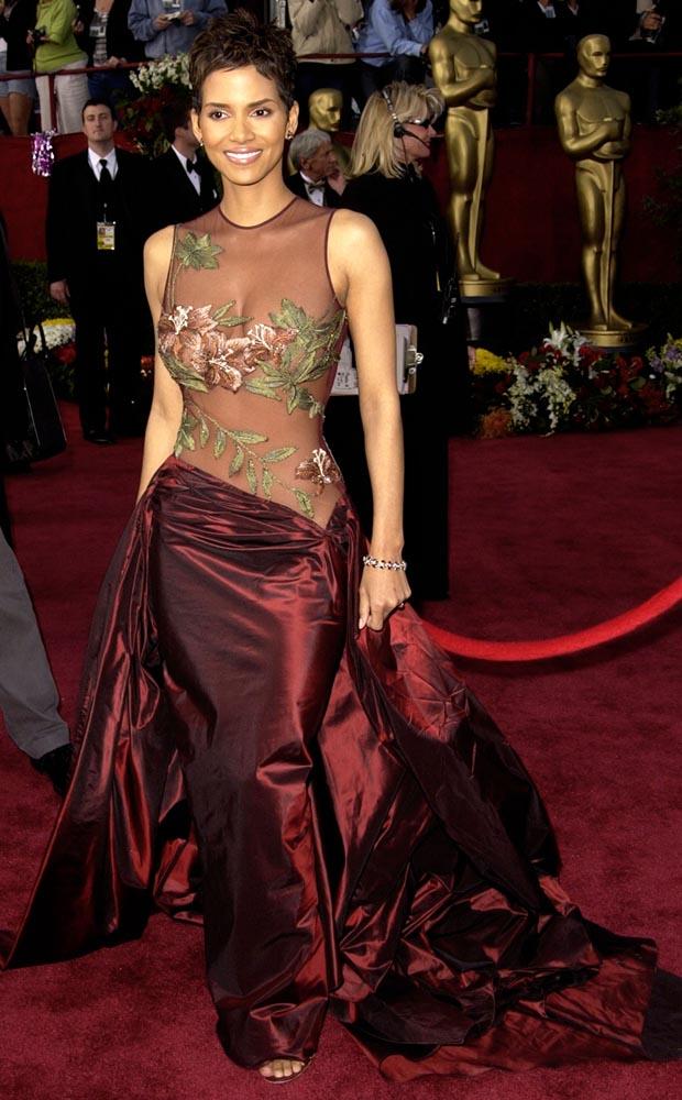 Halle Berry wearing Ellie Saab. Photo / Getty