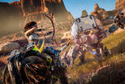 In Horizon Zero Dawn, gamers play as Aloy, a hunter on a mission in a world populated by robotic dinosaurs.