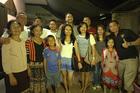Shaun Johnson with his Laotian family.