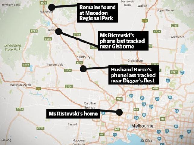 Karen Ristevski's body was found near where her phone last pinged at Gisborne, Victoria. Photo / Supplied