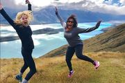 Reese Witherspoon and co-star Mindy Kaling enjoying the South Island.