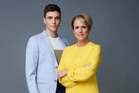 TV1 Breakfast hosts Jack Tame and Hilary Barry.
