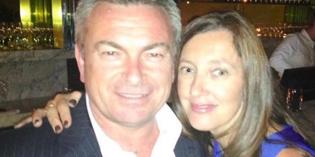 Borce and Karen Ristevski pictured together in a Facebook post.