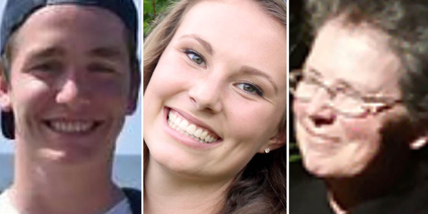 The Long Bay College community is mourning the deaths of Peyo Crus (left) Rachael De Jong and Kim Gray. Photos / Supplied