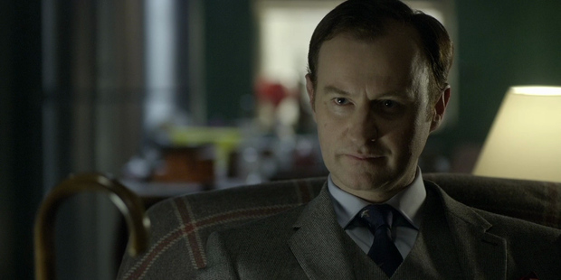 """Hitting back: The screenwriter, 50 - who also plays Sherlock's brother Mycroft on the show - insisted that it was important to """"challenge"""" viewers. Photo / BBC"""