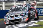 Simon Evans in action during the NZ Touring Cars Championship. Photo / Matthew Hansen