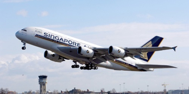 The big bird - an A380. Photo / David Toso