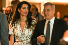 George Clooney and Wife Amal Clooney after a Roundtable Meeting at United Nations in September 2016. Photo / Splash News