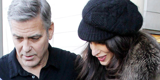George Clooney and Amal Clooney seen at the Los Angeles International Airport. Photo / Splash News