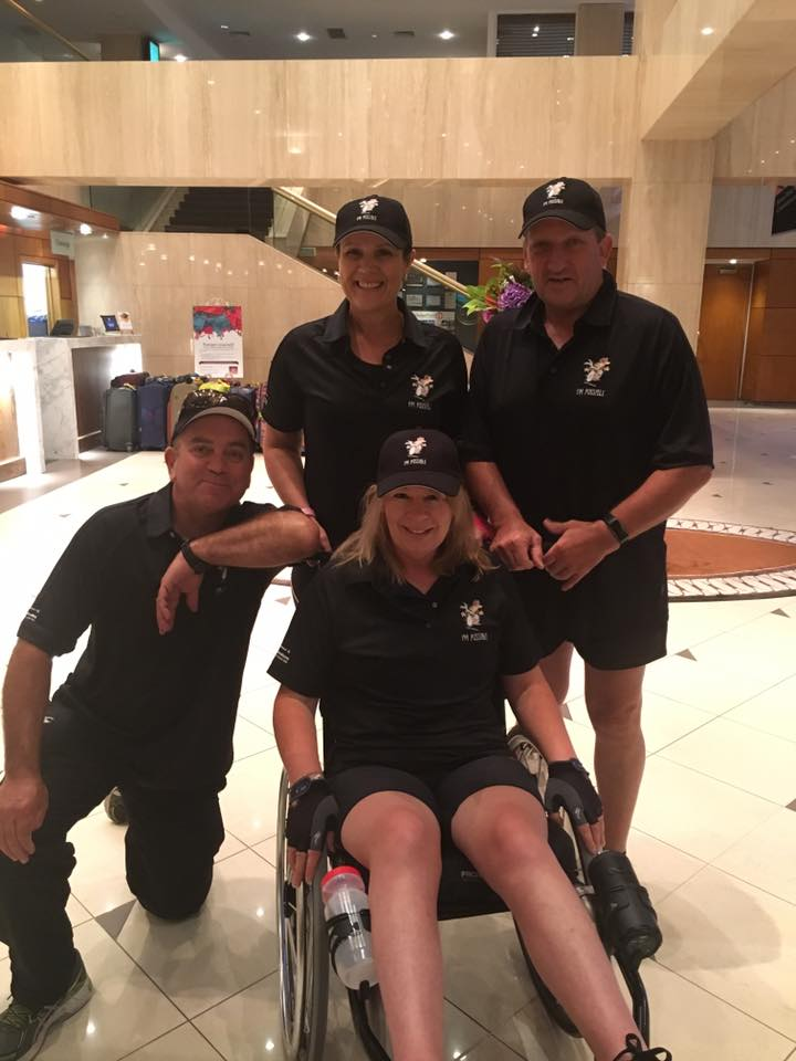 Team 'I'm possible' in Wellington for the run. Photo / Facebook
