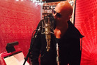 Vin Diesel hits the recording studio. Photo / Instagram