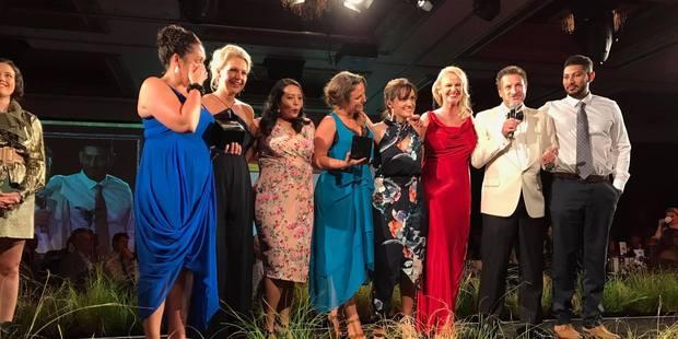Foodstuffs and JustONE win the Nexus Supreme Award at the NZ Direct Marketing Awards at The Langham. Photo/Marketing Association.