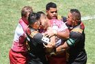 Taniela Tupou was suspended after headbutting Liam Messam at the Tens. Photo / photosport.nz
