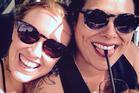 Anika Moa and Natasha Utting married at Bethells Beach. Photo/Instagram