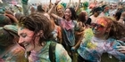 Watch: Watch: Holi festival of colour