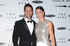 Jamie Whincup and Courtney Nicholson at the 2014 V8 Supercars Gala Awards. Photo / Richard Dobson