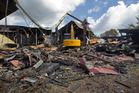 Demolition is under way at St John's Church. PHOTO/BEN FRASER