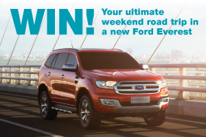 Win a road trip in a new Ford Everest!